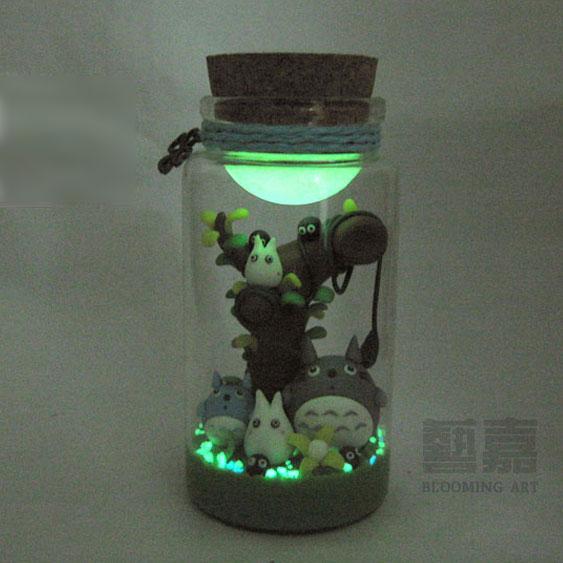 Creative Diy Birthday Gifts: Made Totoro Wishing Bottle Star Bottle Luminous Sand