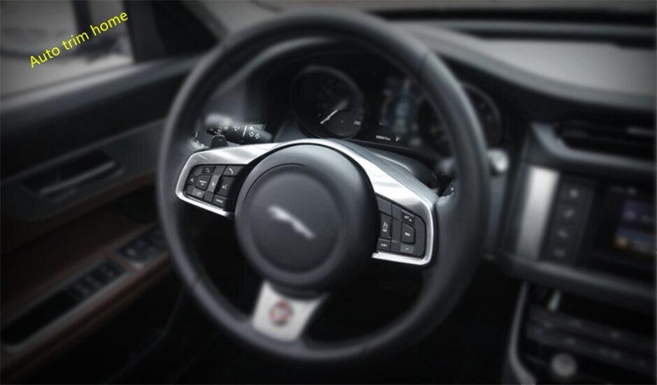 Lapetus pour Jaguar XF 2016 2017 2018 ABS perle Chrome volant changement de vitesse palettes cadre moulage garniture garniture 1 pièce