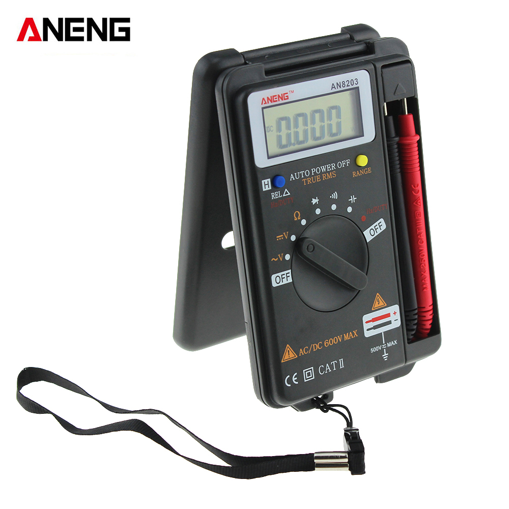 ANENG AN8203 DMM Integrated Handheld Pocket Mini Digital AC/DC Multimeter Portable LCD Electrical Tester Meter NEW arrival цена 2017