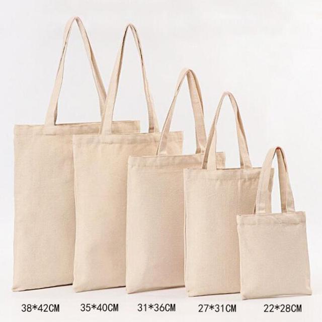 Pure Color Linen Grocery Bag