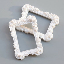 2PCS Mini Resin Image Painting Home Decor Gift Crafts Picture Album Furniture Miniature Art Doll House Photo Frame Display(China)