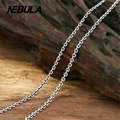 New Fashion Necklace 100% Authentic 925 Sterling Silver Necklace Women Men jewelry Classic Thai Silver 2mm Link Chain Necklace