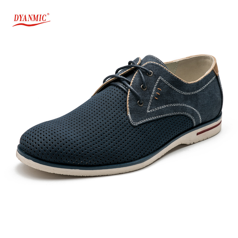 ФОТО DYANMIC 2017 Spring NEW Men Blue Hollow Out Brogue Shoes Men Hard-Wearing Breathable Anti-Odor Shoes Office Shoes 5A9801/5A9802