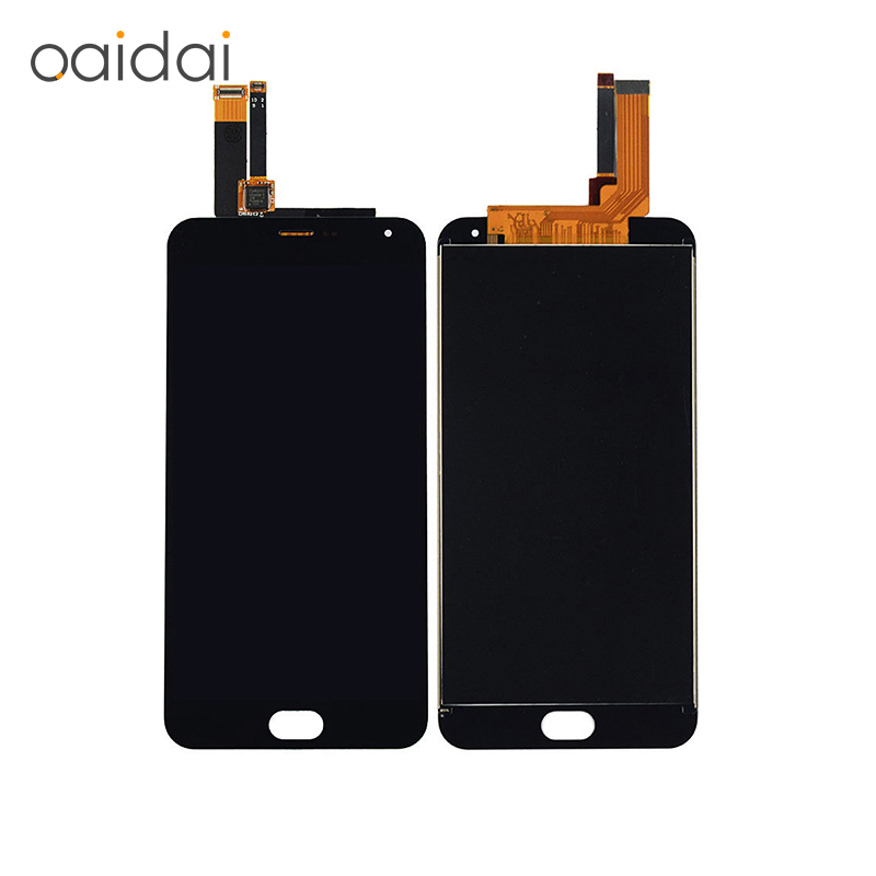Teléfono lcd para MEIZU Sparparts M2 Nota Display + Touch Screen Reemplazo Digit