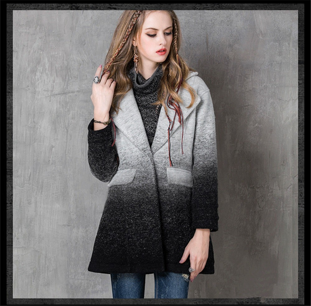 Vintage Warm Women Cashmere Coat 2016 High quality Winter Coat Women Long Sleeve Jacket Winter long Woman coats Cashmere coats  (6)