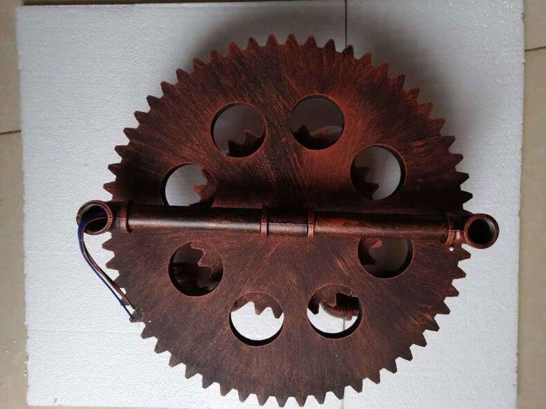 Indústria de madeira roda e27 lâmpada parede