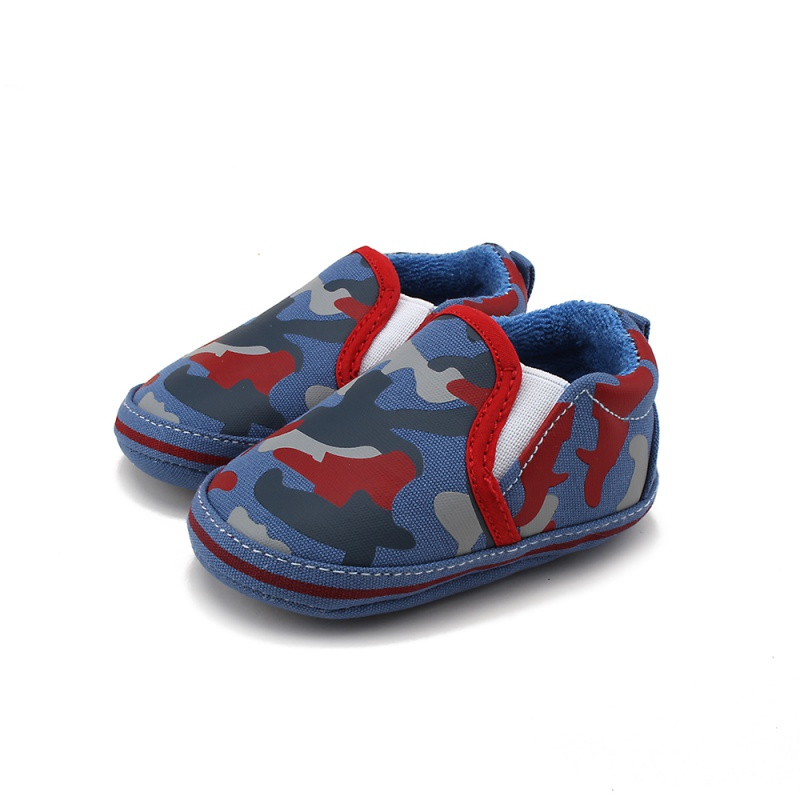 Infant Baby Boy Soft Sole Crib Shoes Toddler Canvas Anti-slip Prewalker 0-18M New