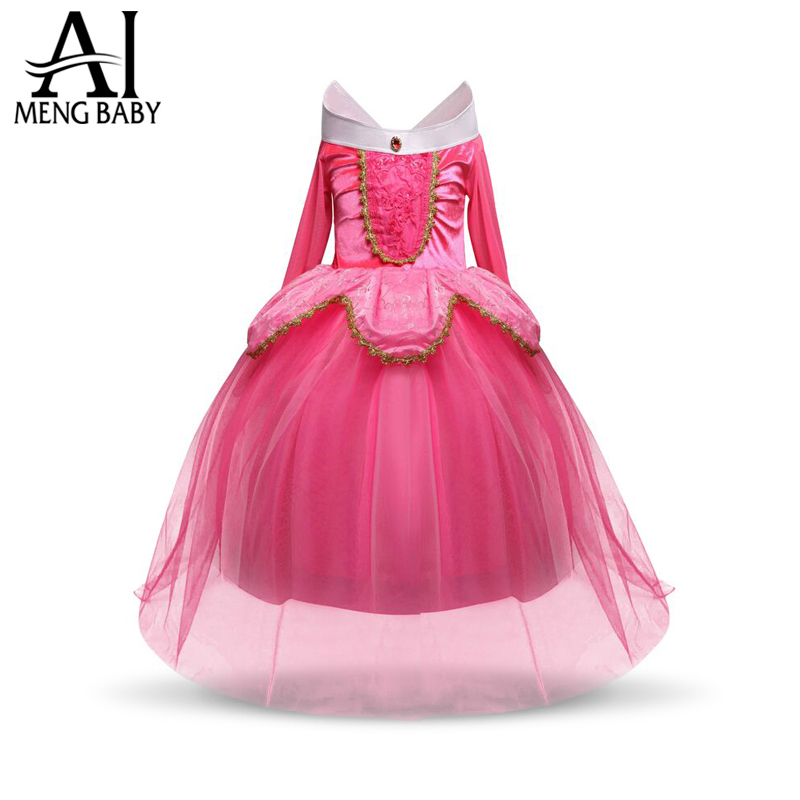 Ai Meng Baby Fantasy Kids Christmas Cosplay party Costume Princess Aurora Dresses Girls Halloween Costume For Kids Party Dress