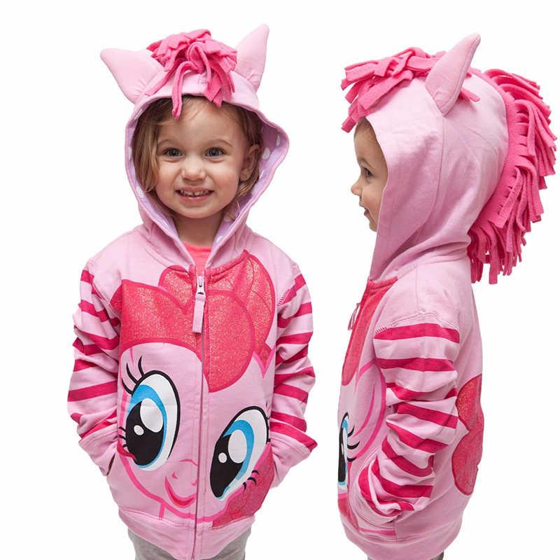Осень 2019 г.; толстовки с капюшоном для девочек «My Little Poli»; Детский свитер; куртки; детская толстовка с капюшоном; ветровка с милым пони; Спортивный Блейзер; верхняя одежда