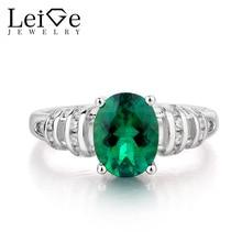Leige Jewelry Emerald Ring Engagement Ring font b May b font font b Birthstone b font