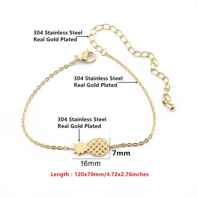 Minimalist Pineapple Bracelet