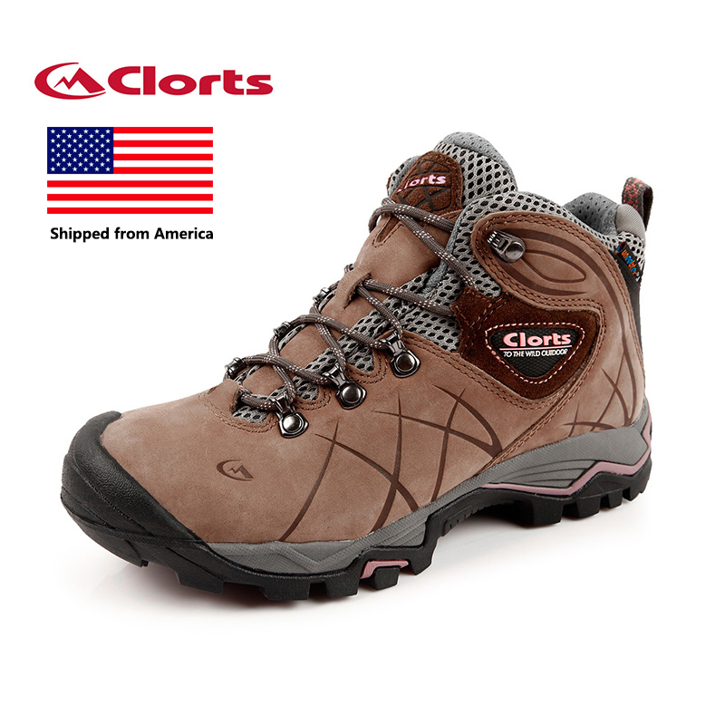 Shipped From USA Clorts Hiking Shoes Women Waterproof Outdoor Hiking Boots Athletic Sneakers HKM-802B