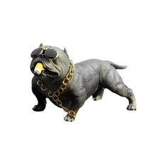 Creative Car Interior Accessories Personality high-end Fashion Simulation Dog Decoration Bully Jewelry Ornaments