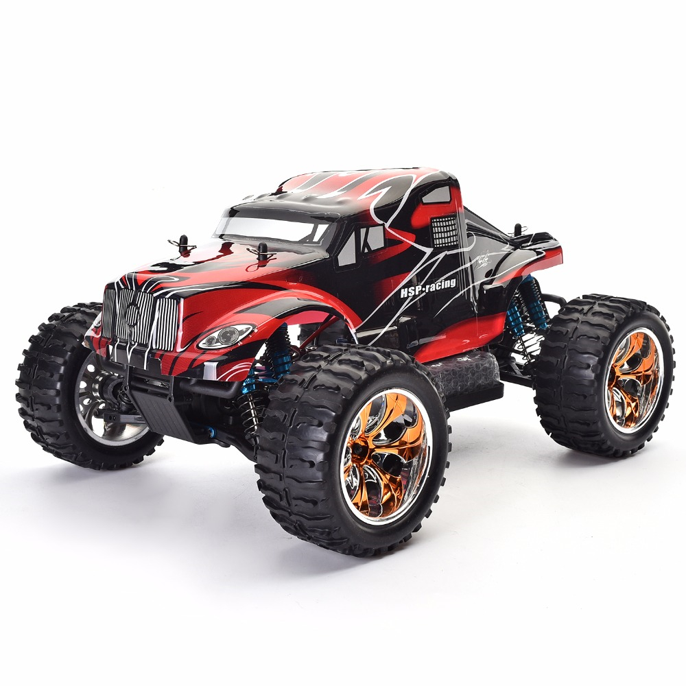 HSP RC Car 1/10 Scale 4wd Off Road Monster Truck 94111PRO Electric Power Brushless Motor Lipo Battery High Speed Hobby Vehicle 1 8 off road power combo incl tenshock x812 sensor electric brushless motor