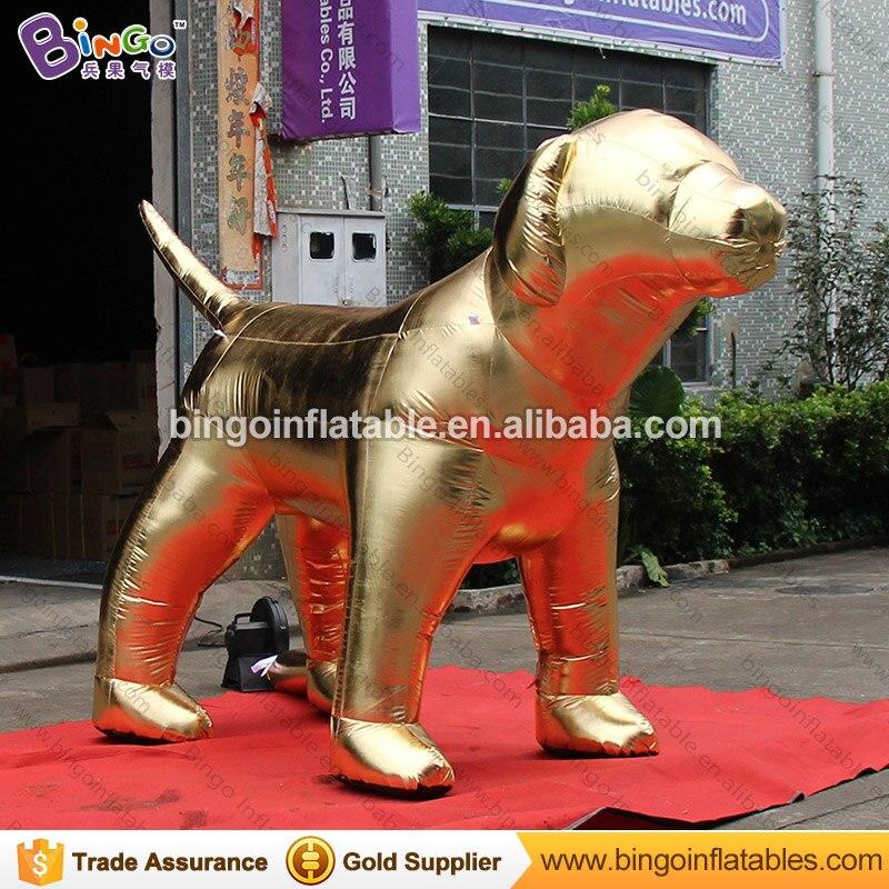 Mascotte Fortune 3X2 mètres gonflable chien doré personnalisé grand air-soufflé chien jouet décoration pour événement chinois nouvel an