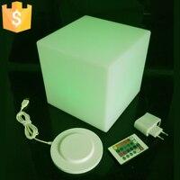 20cm Diameter Led Cube Stool Bar Stools Light Up Cube Garden Working Set Led Club Furniture