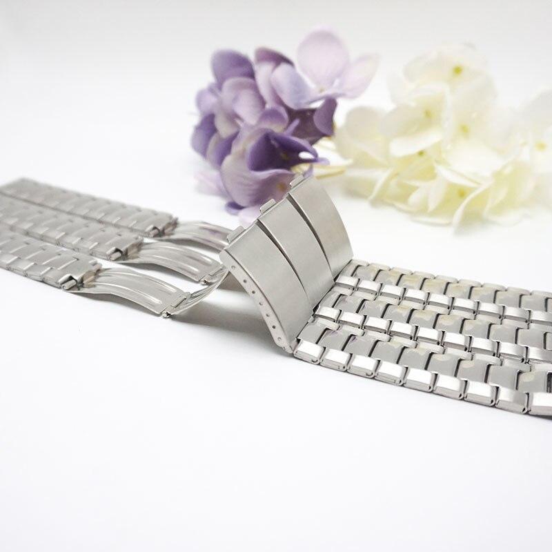 nye stropper armbånd relojes hombre 2020 Sammenklappelig spænde metalurrem 18mm armbånd 18mm til kvinderurband 18 X053