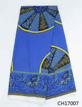 Latest Chiffon fabric creative printed wax design Digital African real print fabrics for woman garment CH17007