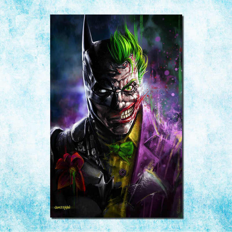 Joker Batman The Animated Series DC Superhero Silk Canvas Poster 13x20 inches Pictures For Room Decor(more)-12