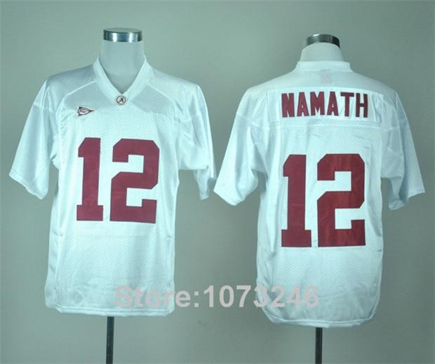newest 69422 c1cff alabama crimson tide 12 namath white jersey