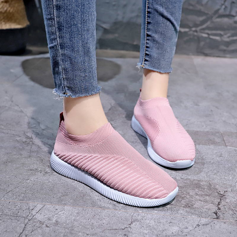 Baideng New 2020 Summer Athletic Sneakers For Women Breathable Mesh Socks Running Shoes Female Outdoor Top quality Sport Shoes