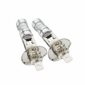 Image 3 - ANGRONG 2pcs H1 Xenon White 10 SMD LED DRL Driving Fog Beam Headlight Bulb Lamp(CA304)