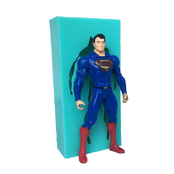 Luyou 1pcs Superman Character Molds Silicone Cake Mold DIY Chocolate Candy Moulds Fondant Cake Decorating Tools FM1710
