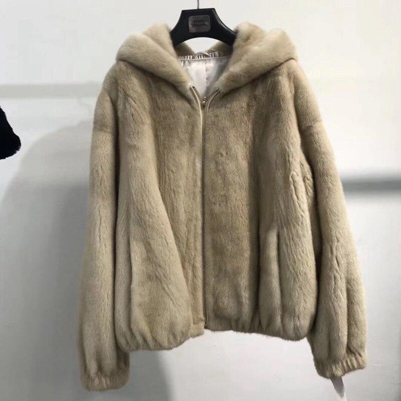 Manteaux Fedex Vêtement Automne Veste Pièce camel Manteau Vison Véritable Fourrure rose De Gratuite Femmes Blanc Hiver Survêtement Luxe YOn5Pq70
