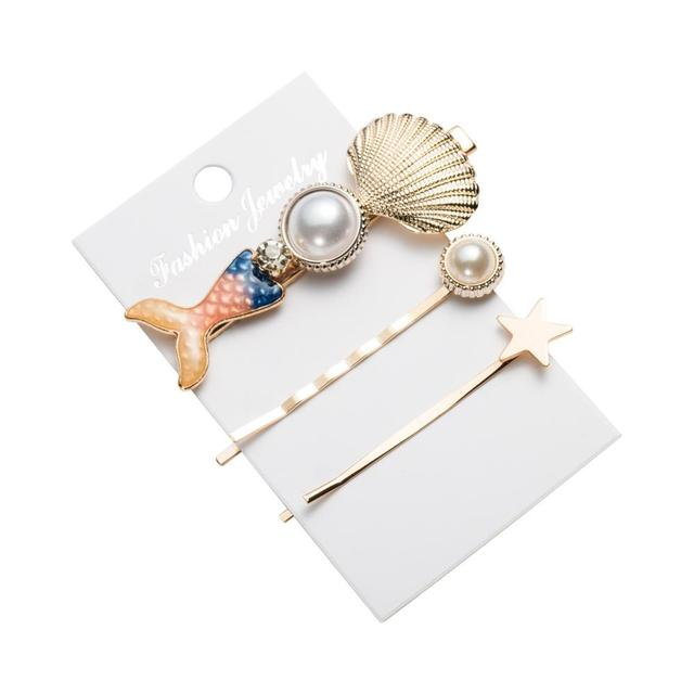 3 Pieces Hairpin Shell Pearl Mawgie