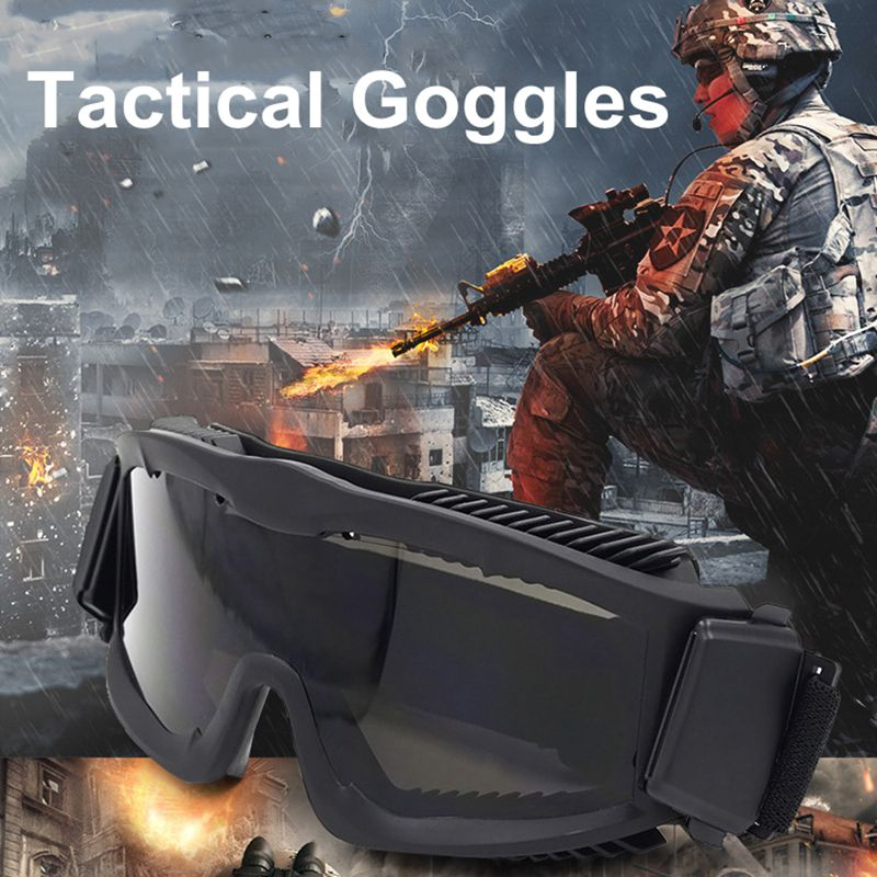 7fe40d7993 Airsoft Tactical Paintball Eye Protection Tactical Glasses Goggle ...
