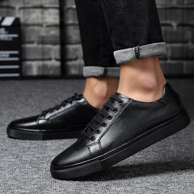De Transpirable Zapatos Hombres Esportivo Cuero Del 2018 Masculino Northmarch Tenis claro Zapatillas Negro blanco Hombre Genuino Los multiple 45gzq