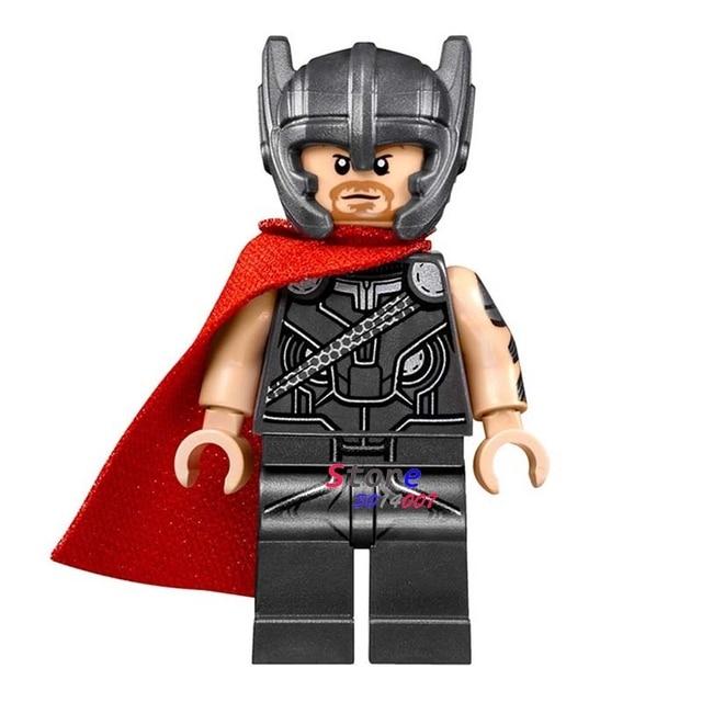 50pcs super heroes marvel dc comics model marvel thor with hammer