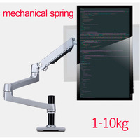 mechanical spring 1 10kg three long arm clamp grommet base 100x100 75x75 notebook table mount 15 32 monitor desktop stand