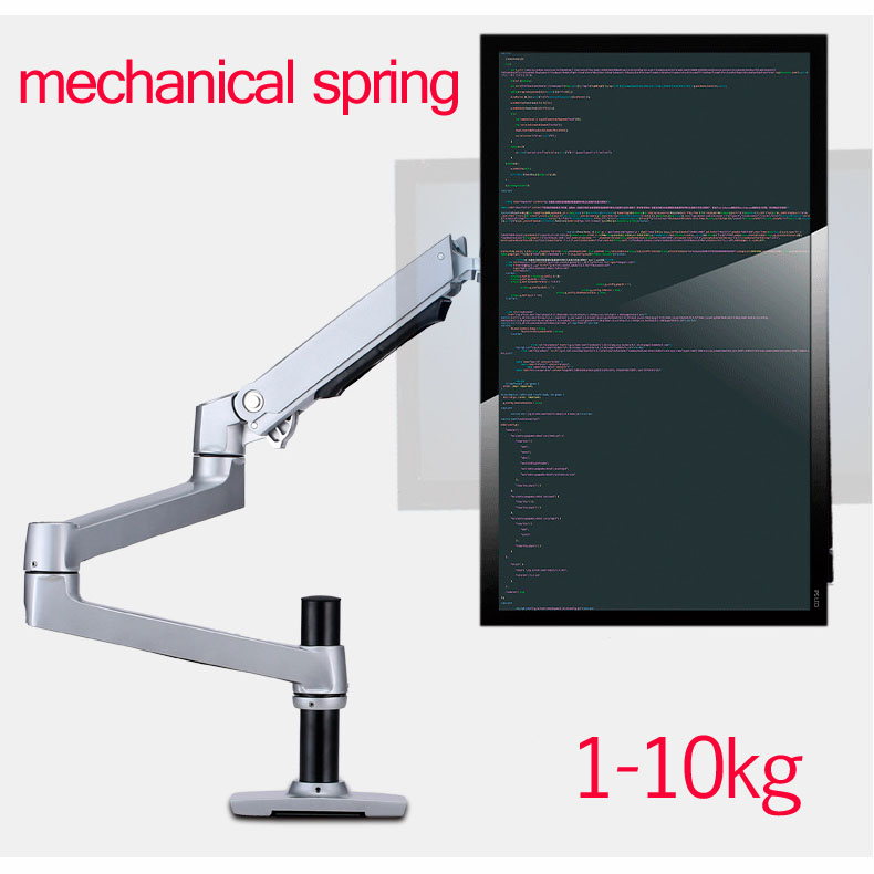 mechanical spring 1-10kg three long arm clamp grommet base 100x100 75x75 notebook table mount 15-32 monitor desktop standmechanical spring 1-10kg three long arm clamp grommet base 100x100 75x75 notebook table mount 15-32 monitor desktop stand