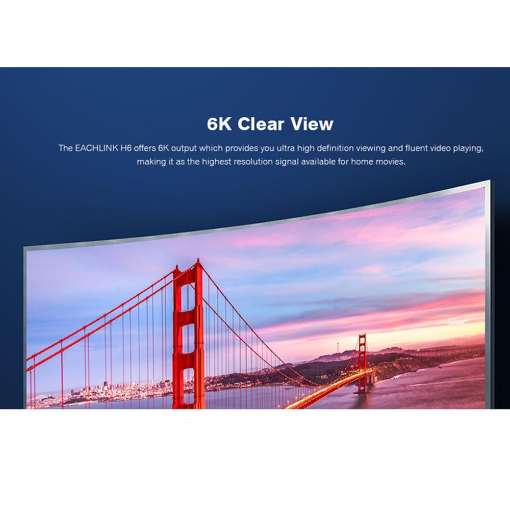 EACHLINK H6 Mini Android 7 0 Smart TV Box Allwinner H6 3GB 4GB RAM 32GB ROM  2 4G WiFi 100Mbps USB3 0 BT4 1 6K H 265 Set Top Box
