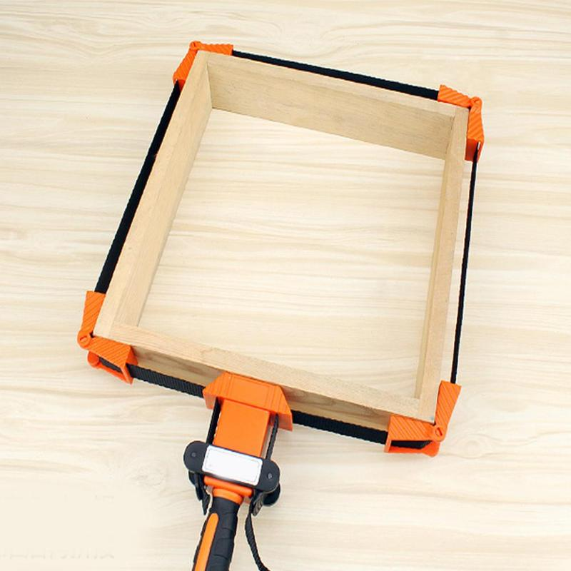 Multifunction Blet Woodwork Clamp Quick Adjustable Band Angle Polygonal Clip for Woodworking Picture Framing Art Craft