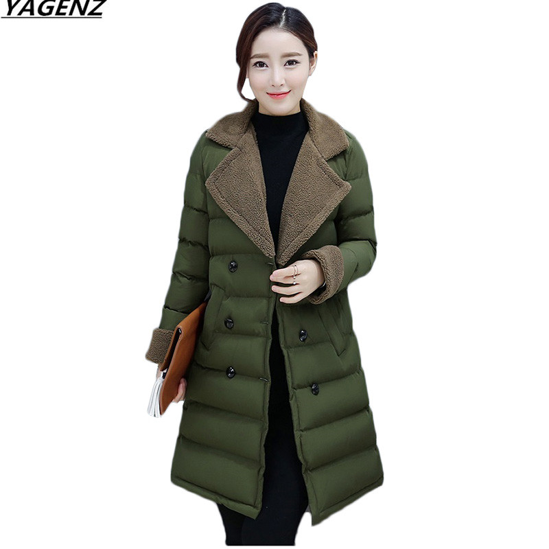 Winter Jacket 2017 NEW Fashion Lambswool Collar Women Coat Cotton-padded Jacket Large Size Women Parkas Warm Outerwear Coats 643 children winter coats jacket baby boys warm outerwear thickening outdoors kids snow proof coat parkas cotton padded clothes
