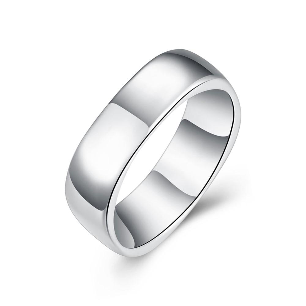 Mannen Sieraden Anel Masculino Fijne Mode Verzilverd Ring Geen Woorden Leuke Vierkante Trouwringen Topkwaliteit Anillos Mujer Bijoux