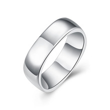 Men Jewelry Anel Masculino Fine Fashion Silver Plated Ring No Words Cute Square Wedding Rings Top Quality Anillos Mujer Bijoux
