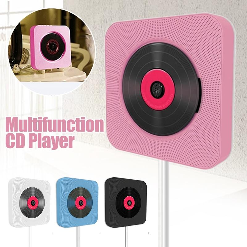 Lecteur CD mural bluetooth boîtier Audio Portable HiFi maison avec télécommande Radio FM haut-parleur Radio MP3