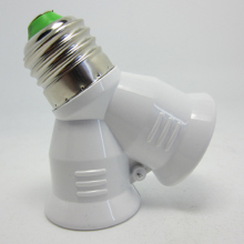 2 в 1 держатель лампы двойной 2X E27 Цоколь удлинитель сплиттер разъем галогенный светильник медный контактный адаптер