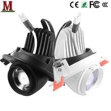 Foco ajustável LED 15 graus-60 graus incorporado holofotes cob 5w7w10w15w AC85-265v
