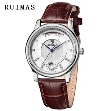Top Brand Watch Men RUIMAS 2018 Mechanical Clock Wristwatches Leather Strap Dress Business Relogio Masculino Watches
