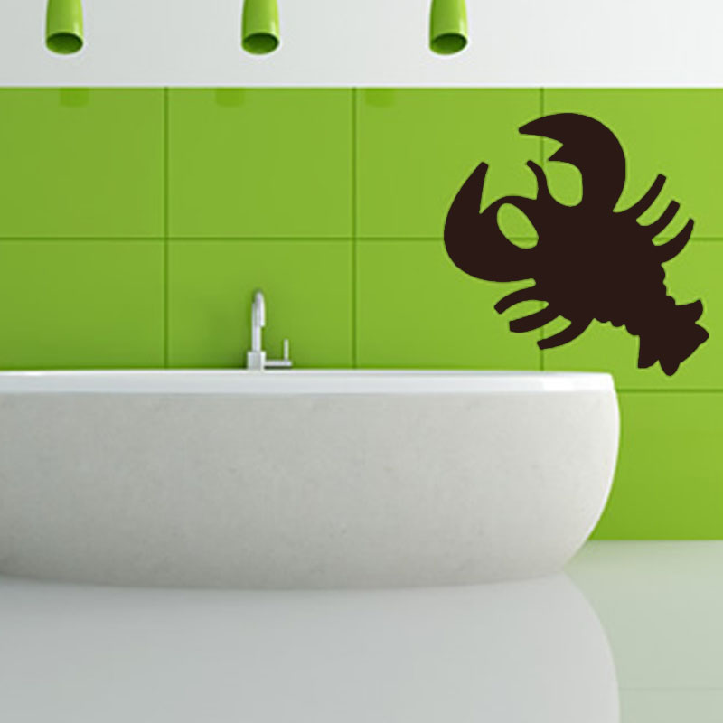 Simple Design Crab Outline Bathroom Decorative Cancer Wall