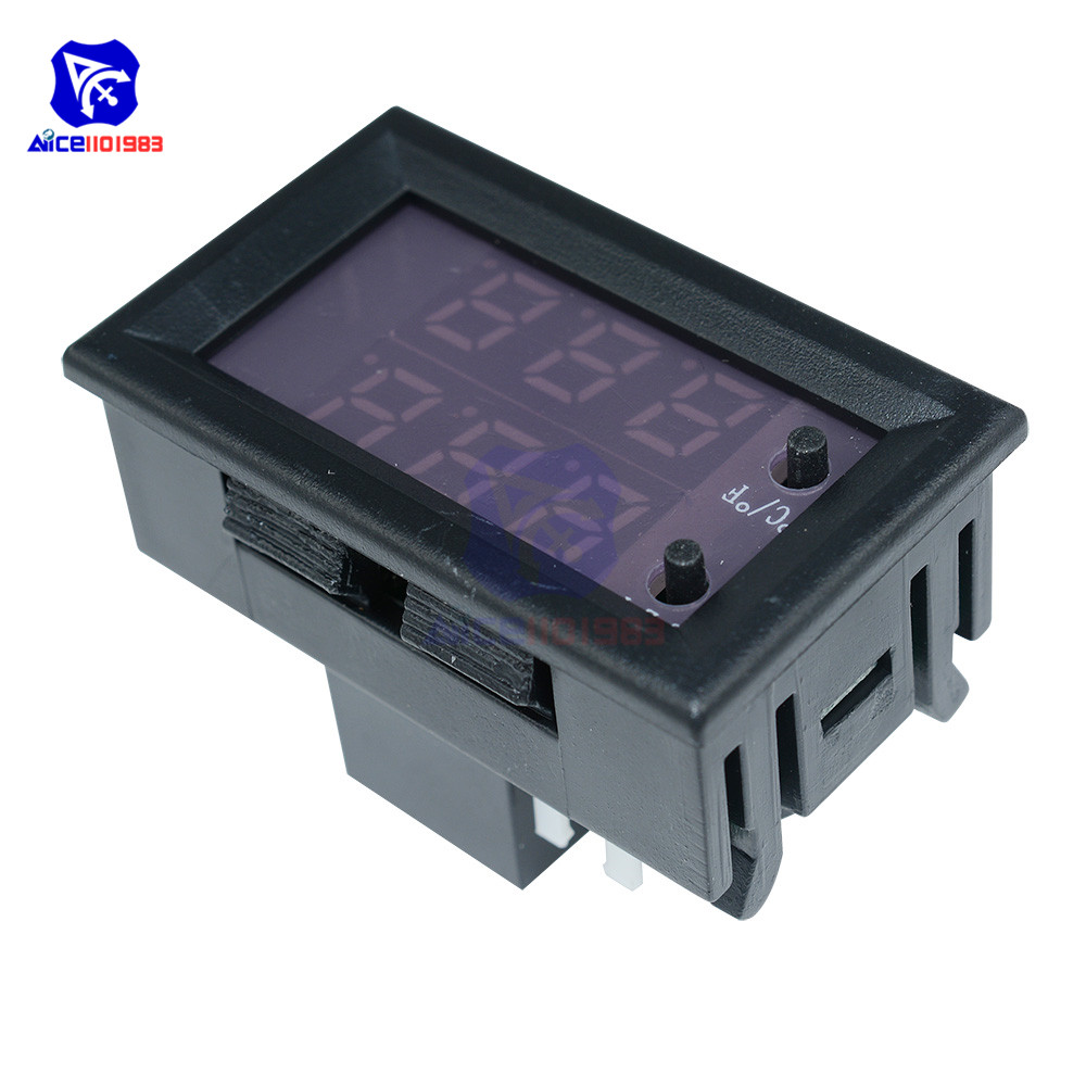 W1209WK 12V 220V LED Digit Thermostat Temperature Controller Thermometer Celsius/Fahrenheit Switch Module with NTC Sensor Probe 14