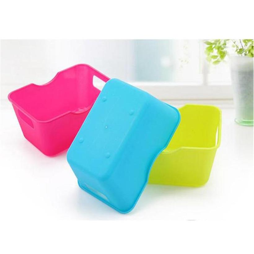 Practical 2018 NEW Fashion3 Colours Plastic Office Desktop Storage Boxes Makeup Organizer Storage Box Drop Shipping