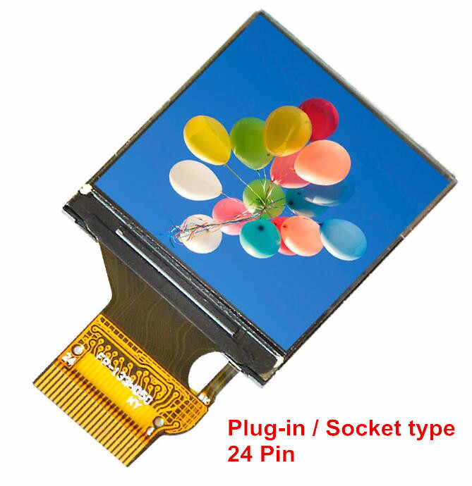 1.3 inch TFT LCD IPS colorful Horizontal screen panel 1.3 inch 240240 12pin 24 pin solder type plug-in socket