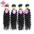 Queen Hair Products Peruvian Virgin Hair Deep Wave Curly Unprocessed Cuticle Aligned Grade 8A Top Quality Virgin Hair 4pcs/Lot