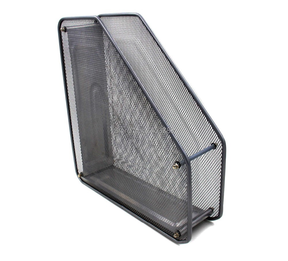 Mesh Desk Organizer Office Paper Holder Supplies With Upright Sections 1