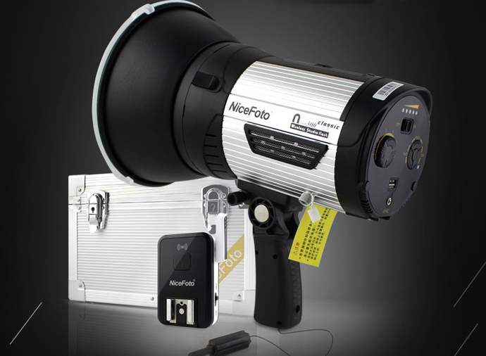 NICEFOTO nflash300 Wireless Studio Flash Classic 300 LED Lamp for Outdoor Photography Built in Wireless Hi